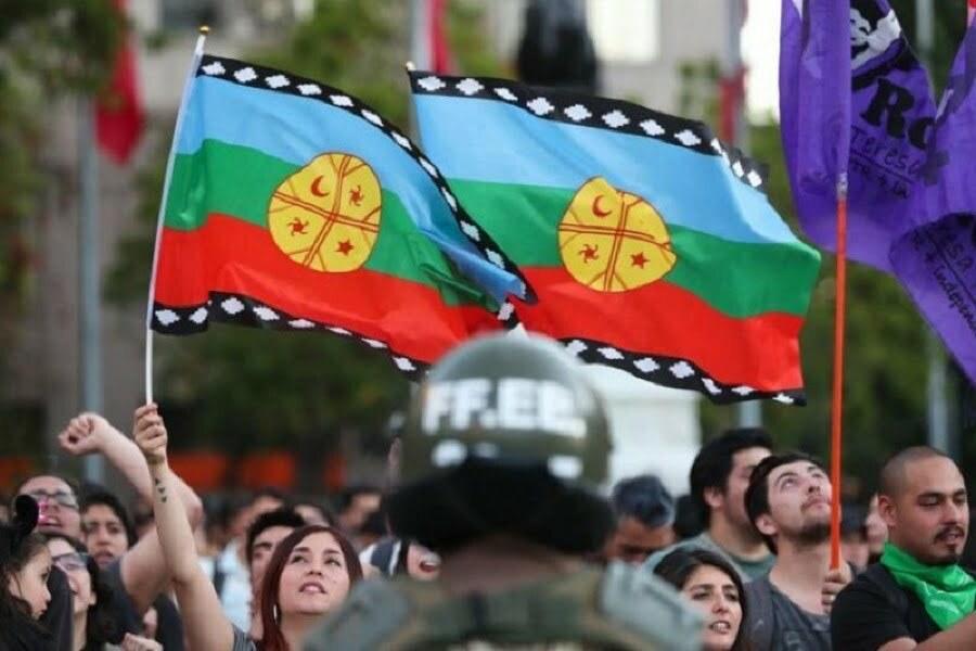 Bandera Mapuche Estado de Sitio wallmapu