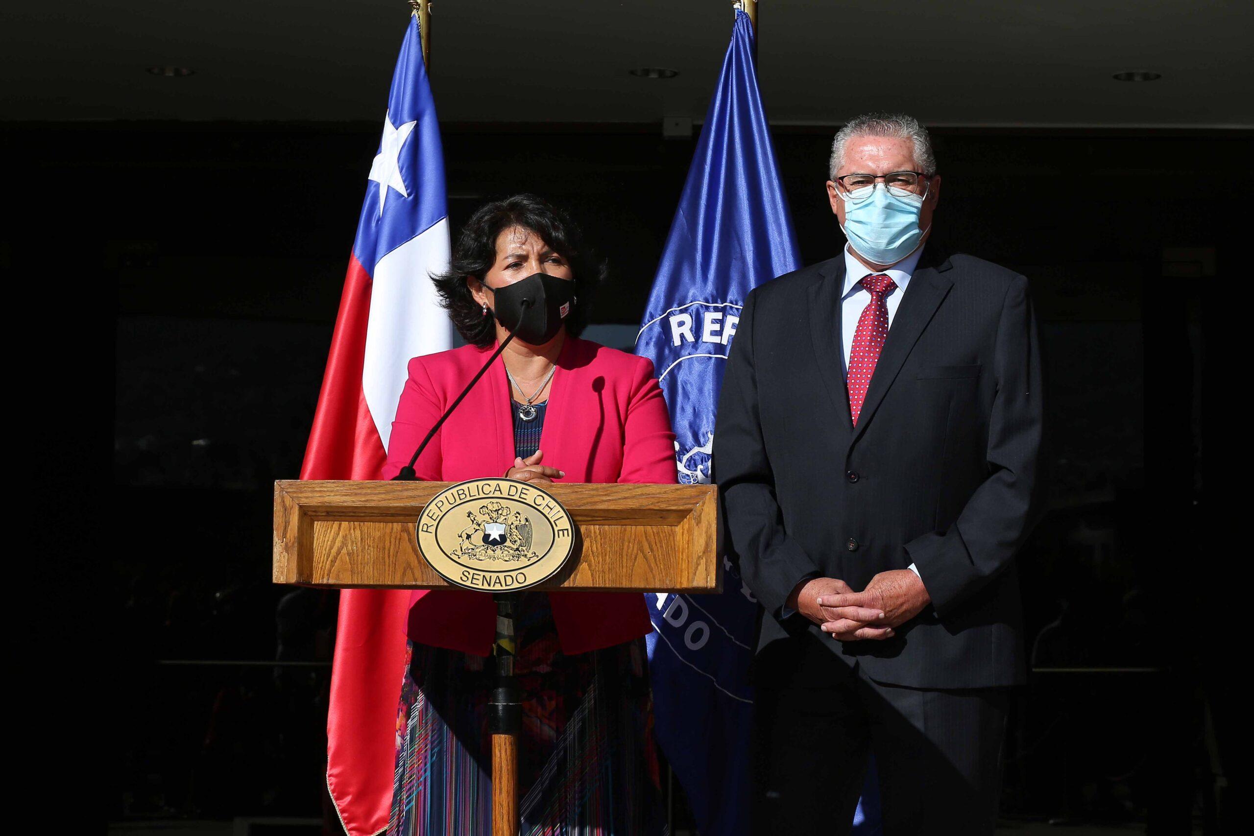 Senadores Yasna Provoste y Jorge Pizarro NrWUAI99yB