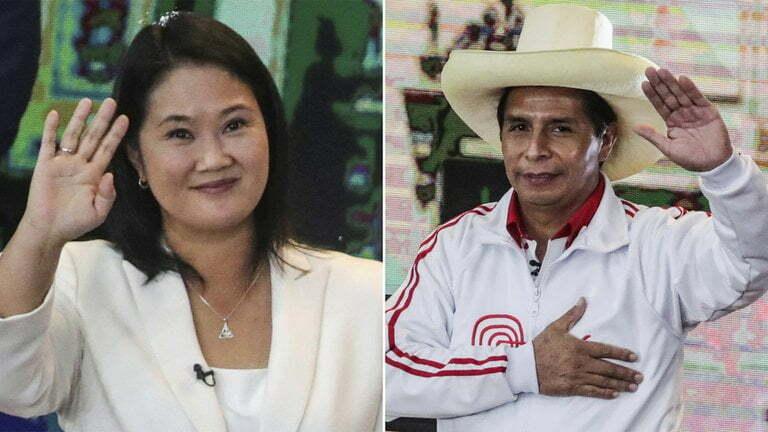 Keiko Fujimori y Pedro Castillo AM5NQ